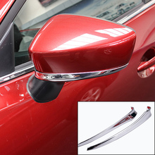 FIT FOR 2014 2015 2016 MAZDA 6 ATENZA M6 GJ CHROME SIDE DOOR MIRROR REAR VIEW STRIP COVER TRIM PROTECTOR GARNISH OVERLAY MOLDING