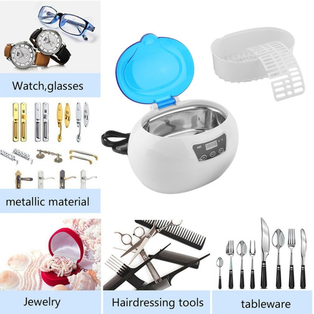 Mini Autoclave Ultrasonic Cleaner Ultrasonic Sterilizer Disinfect Machine For Glasses Towel Nail Cleaning EU-Standard EU plug<br>