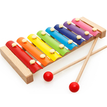 Children Baby Percussion Instruments Toy Xylophone Wisdom Development Wooden Instrument Improve Kid Sensitive To Colors Sounds