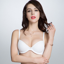 2017 New Womens Noble Seamless Push Up Bras Sexy Adjusted-straps Ladies Ultra Boost 70-85ABC Size Half Cup Solid Bralette