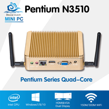Promotion Mini PC Intel Pentium N3510 Quad Core Windows 10 Linux Mini Computer PC With Wifi HTPC TV Box Computadora
