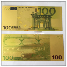 Fake money bills 100 Euro 24K Gold Banknote Paper money Collection Crafts Make counterfeit  Money Selling Vintage Decoration