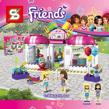 Friends Heartlake Party Shop SY838 Building Block Stephanie Laurie Girls Educational Toys Legoes 41132 Compatible