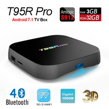 T95R Pro 3GB 32GB Android 7.1 TV Box Amlogic S912 Octa Core 64bit Smart Mini PC 4K 3D Movie Media Player 2.4G/5G Wifi Bluetooth(China)