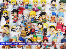 2set/lot Random send original pvc 2.5-3cm Japanese anime figure Naruto/Hunter X Hunter/one piece action figure Christmas gift(China)