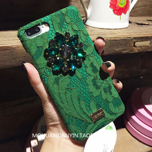 Europe and the United States fashion big brands lace for iphone7 8 6s plus X mobile phone case luxury rhinestones mobile phone