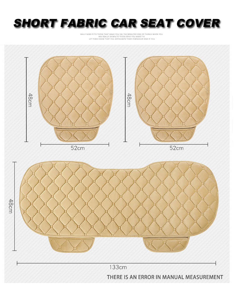 For KIA RIO Cerato Sportage QL Car Seat Cover Universal Auto Winter Soft Warm Seats Cushion Cars Chair Covers Protector General (8)