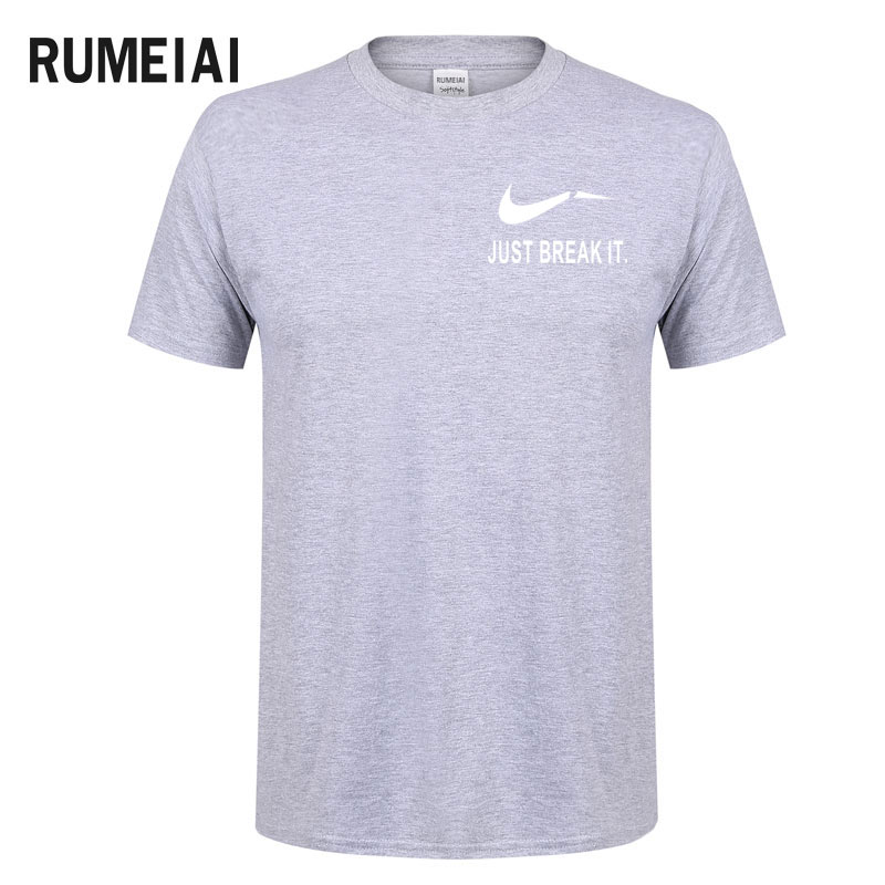RUMEIAI Fashion Men T-Shirts Male US Size T shirt Homme Summer cotton Short Sleeve T Shirts Brand Men's Tee Shirts Man Clothes 7
