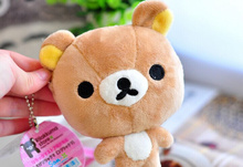 HOT 12PCS Rilakkuma Bear Plush 12CM Keychain Plush Coin Cash Purse , Hand Wallet Pouch BAG ; girl kid's Handbag Case Wallet