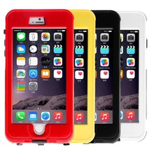 4 colors Yellow Durable Link Dream Waterproof Shockproof Dirt SnowProof Cover Skin case Box for iPhone 6 Plus case 5.5 inch