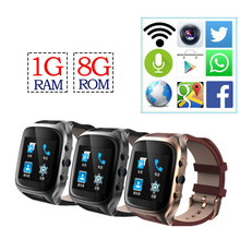 "Best X01S Android 5.1 Smartwatch Phone 1.54"" Bluetooth Smart Watches 1.3GHz Dual Core MTK6572 1G+8G 600mAh GPS 3G WiFi Camera"