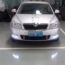 July King LED Daytime Running Lights DRL, LED Fog Lamp Assembly Kit Case for Skoda Superb 2009~2013  1:1 Replacement.