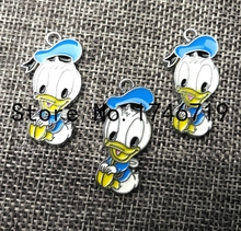 Hot Sale 10pcs Cartoon Donald Duck Metal Charms DIY Jewelry Making  Mobile Phone Accessories For Best Gift D-112