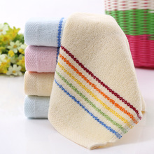 1 piece Rainbow Prind 100% Cotton Face Towel For Adult Kids Square 25*50 cm In Bathroom Face Towel Suitable for Children