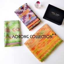 Hot fashion ladies spring summer design women viscose voile big size tribal aztec scarf shawl hmong stole