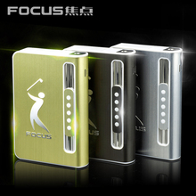 Free Shipping 3pcs/lot focus 027 cigarette box automatic cigarette ejection cigarette case with lighter metal personality men