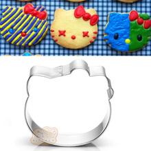 1pcs Hello Kitty Kithen Cookie Cutter Moldes Metal patisserie reposteria Biscuit Pastry Cupcake Toppers Fondant Cake Decor Tools