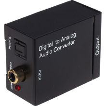 Kebidu Wholesale Digital to Analog L/R SPDIF RCA Optical Toslink Audio Converter Adapter High Quality