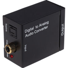 Kebidu Wholesale Digital to Analog L/R SPDIF RCA Optical Toslink Audio Converter Adapter High Quality(China)