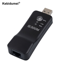 Kebidumei Universal Wifi Range Extender 300Mbps Wireless TV Wifi Adapter Network Card for Samsung LG Sony TV(China)