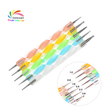 5 X 2 Way 10 Different DIY Ball Styluses Tools Pottery Ceramics Embossing Pattern Clay Sculpting Tool Nail Art Dotting Tools