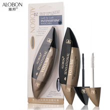Alobon Double-headed 3D fiber lashes black Mascara rimel Mascara Waterproof Long Curling Thick Growth Eyelashes Cosmetic Tools(China)