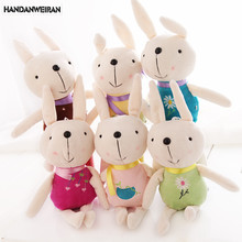 6 piece/lots Cute Rabbit Plush Doll Toy pendant  toys wedding gift Holiday gift  wholesale
