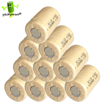 10 pcs 4/5SC battery Rechargeable Battery 1.2V 1200mAh 4/5SubC batteria power bank SC accumulator(China)