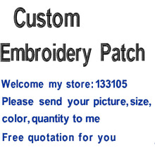 Custom your own Embroidery Patch Iron on/Sew on/Vecro on Embroidered Patches for Clothing Pls Do not Pay before Quotation
