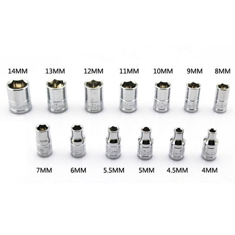 KEKEYANG 46Pcs 1//4 Inch Wrench Repair Tools Metric Socket Wrench Screw Kit Universal Hand Tools Wrench
