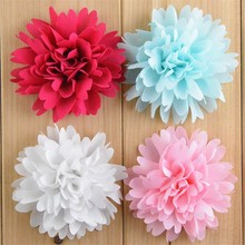 "300pcs/lot Wholesale 3"" Boutique Chiffon Ballerina Flowers Hair Flower DIY Garment Accessories U Buy More And Save FH32"