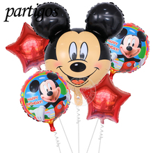 5pcs/lot aluminum balloons Minnie Mickey head balloon decorations party supplies children's toys 18inch star ballons(China)