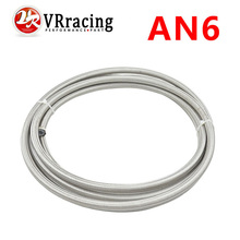 VR RACING - AN6 Double braided Stainless steel Teflon fuel Racing Hose Fuel Oil Line AN6(ID:8MM,OD:13MM) VR7512