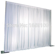 3M*3M Wedding Drapery Pipe Stand/Wedding Decor Pipe And Drape/Stainess Steel Wedding Backdrop Stand