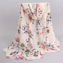 Chiffon Limited Scarf Print Abstract Women's Lady Brand Design Spring Summer Patterns Cape Shawl Wrap Cachecol Feminino 2017(China)