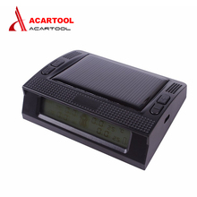 New acartool TPMS Car Tire Pressure Monitoring Intelligent System with LED Display Screen 4 Internal Sensors Solar Power Supply(China)