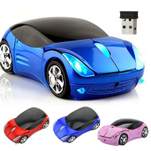 2.4Ghz Optical Mouse Wireless Mouses Car Shaped Game Mice for Computer PC EM88(China)