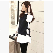 Autumn and winter new women 's 2017 white shirt female long - sleeved Han Fan in the long section of the college wind shirt fals