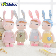 Metoo 24CM Mini Kawaii Plush Stuffed Animal Cartoon Kids Toys for Girls Children Baby Birthday Christmas Gift Angela Rabbit Doll