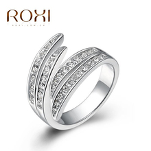 2017 ROXI Christmas Gift rings,top Quality Make With Genuine SWR crystal, 100% Hand Made Fashion jewelry,2010006365
