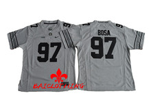 Free Shipping Nike 2016 Ohio State Buckeyes Joey Bosa 97 College Boxing Jersey - Gridion Grey Size S,M,L,XL(China)
