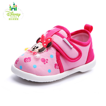 Disney Baby Shoes Infant Toddler Crib Shoes Soft Sole Kid Cotton First Walkers Footwear Newborns 2 COLORS size 14-14.5 DH0086(China)
