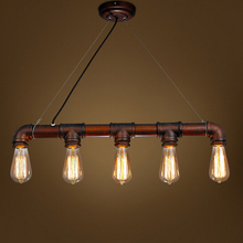 Edison Personalized bar Lighting counter lamps loft style vintage pendant lights water pipe pendant lamps for Warehouse