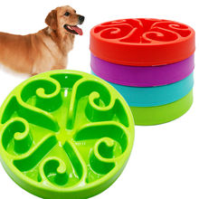 High Quality Pet Dog Feeding Plastic Bowls Fun Feeder Pet Dog Cat Food Slow Feeder Puppy Anti Choke Bowl(China)