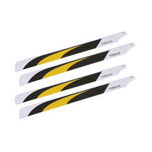 2 * Pairs Carbon Fiber 325mm Main Blades for Align Trex Electric 450 RC Helicopter