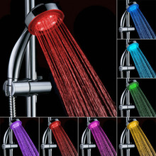 Romantic Automatic Magic 7 Color 5 LED Lights Handing Rainfall Shower Head Single Round Head RC-9816 for Water Bath Bathroom
