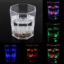 Beer Cup LED Inductive Rainbow Color Flashing Light Glow Mug Drink Club Bar HOT(China)