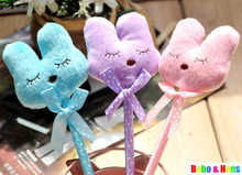 New cute plush rabbit style ball pen / fashion Promotion Gift /Wholesale(China)
