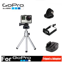 Gopro accessories Xiaomi Yi Tripods Mini Universal Portable Stand Holder Coppor Tripod Support 2kg for Gopro Hero 4 3+ 3 SJ4000
