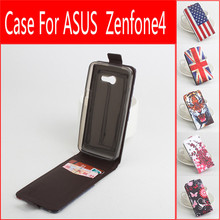 5 Styles Original Painted Case For Asus Zenfone 4 A450CG Moblie Phone Flip Leather Case Cover For ASUS A450CG With Card Holder